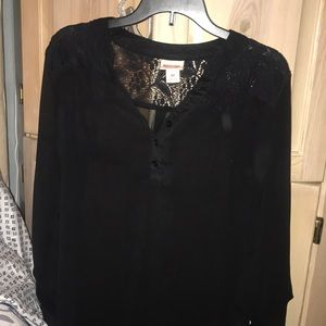 Black sheer GUC dressy top size small
